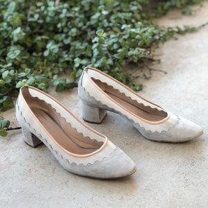 Chloe Bridget Scallop Tulle Ballet Flat Pumps